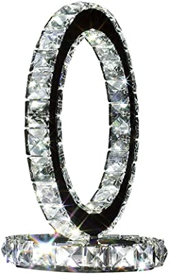 Lámpara De Mesa De Cristal, Lámpara De Mesa Transparente LED Lámpara De Mesa De Cabecera Lámpara De Mesa De Decoración De Dormitorio De Sala De Estar Creativa