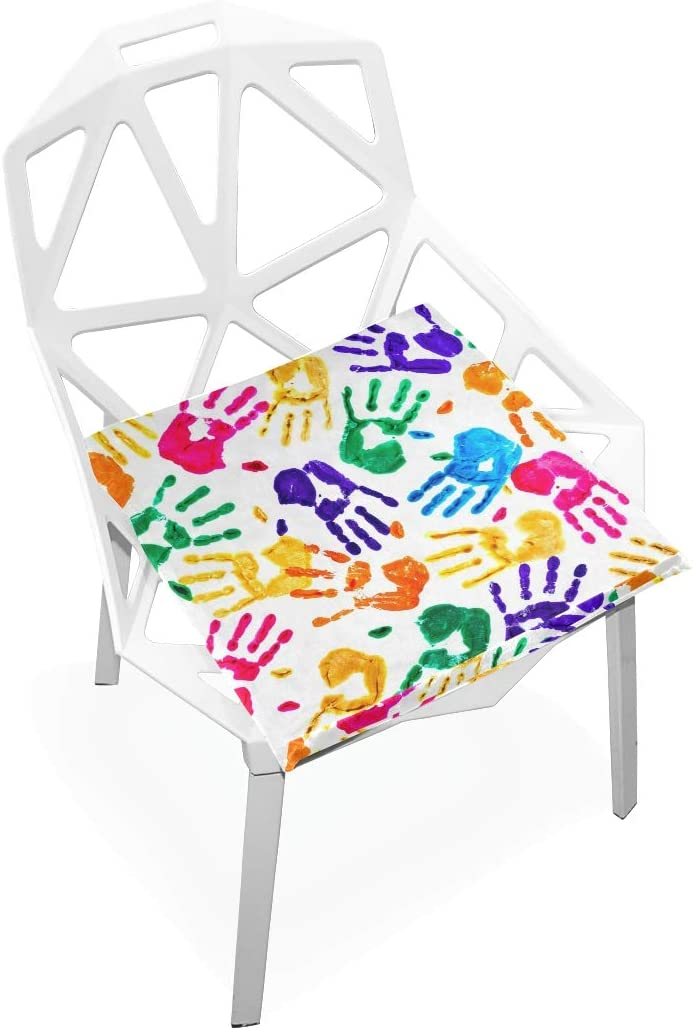 linomo Abstract Colored Today's only Handprint Memory Seat Cus Foam Pad Max 53% OFF Chair