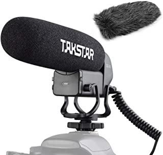 TAKSTAR SGC-600 オンカメラ 外部マイク コンデンサーマイク スーパーカーディオイド 3レベルゲイン制御 ローカットスイッチ 3.5mmプラグ ウインドスクリーン付き コールドシューマウント付き 防風カバー付き キヤノン ニコン ...