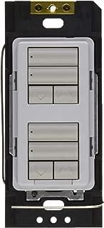 Lutron RRD-HN2RLD-PD Radio Ra2 C.L Hybrid Keypad Dual Group with Dual Raise/Lower Neutral-Wire Dimmer Palladium