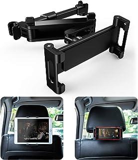 Soporte Tablet Coche, Warxin Auto Reposacabezas Soporte para Tablet 360° Rotación Fácil instalación Ajustable Diferentes Tamaños Universal para 6-12
