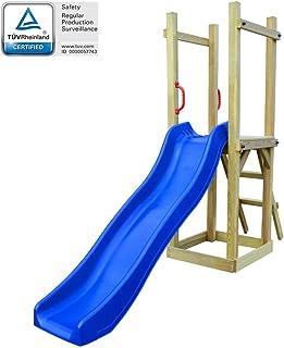 Festnight Parque Infantil de Jardin con Tobogán y Escalera - Material de Madera, 237x60x175 cm
