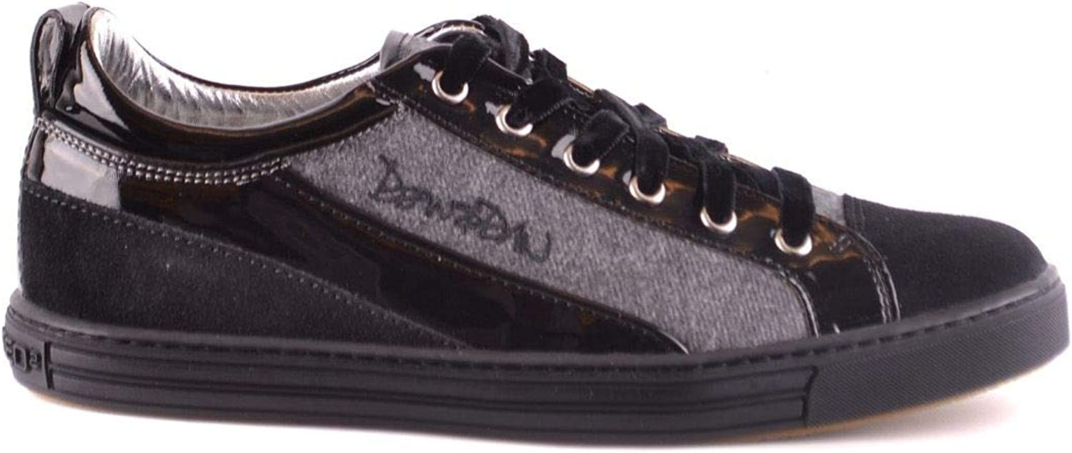 DSQUARED2 Women's MCBI31514 Black Suede Sneakers