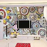 3D Large Mural Mosaic Tiles Modern Art Wall Painting