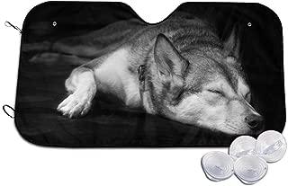 Sleepy Dog Car Windshield Sunshade Foldable Car Front Window Sunshade Sun Fit Car UV Ray Sun and Heat Visor Protection Small