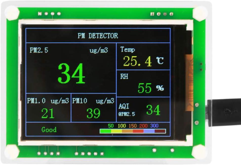 Medidor de partículas de aire comprimido de 2,8 pulgadas PM2.5 Medidor de partículas de aire comprimido digital