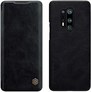 Nillkin® Oneplus 8 Pro Case, Qin Series Premium Wallet Flip Case Ultra-Thin Leather Case OnePlus 8 Pro (1+8 Pro) Case [Bla...