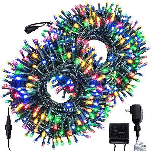 FORSPARK Outdoor Christmas String Lights, LED Christmas Tree Fairy Twinkle Lights Decorative for Indoor and Outside Halloween Garden Patio Wedding Party Holiday, 209Ft 600 LED, Multicolor