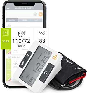 Digital Upper Arm Blood Pressure Monitor by Dario Includes: Blood Pressure Cuff, Carrying Bag and Batteries. Connects to Dario Mobile App for Simple Data Tracking and Sharing