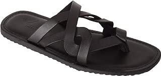 VONZO Men Black Slip On Sandal Chappal
