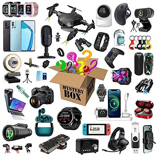 WUHX Mystery Box, Mystery Box Electronics, Scatole Mystery Casuale, Scatola di Sorpresa di Compleanno, Ottimo Rapporto qualità-Prezzo, Come Droni, Orologi Intelligenti, Gamepads E Altro Ancora