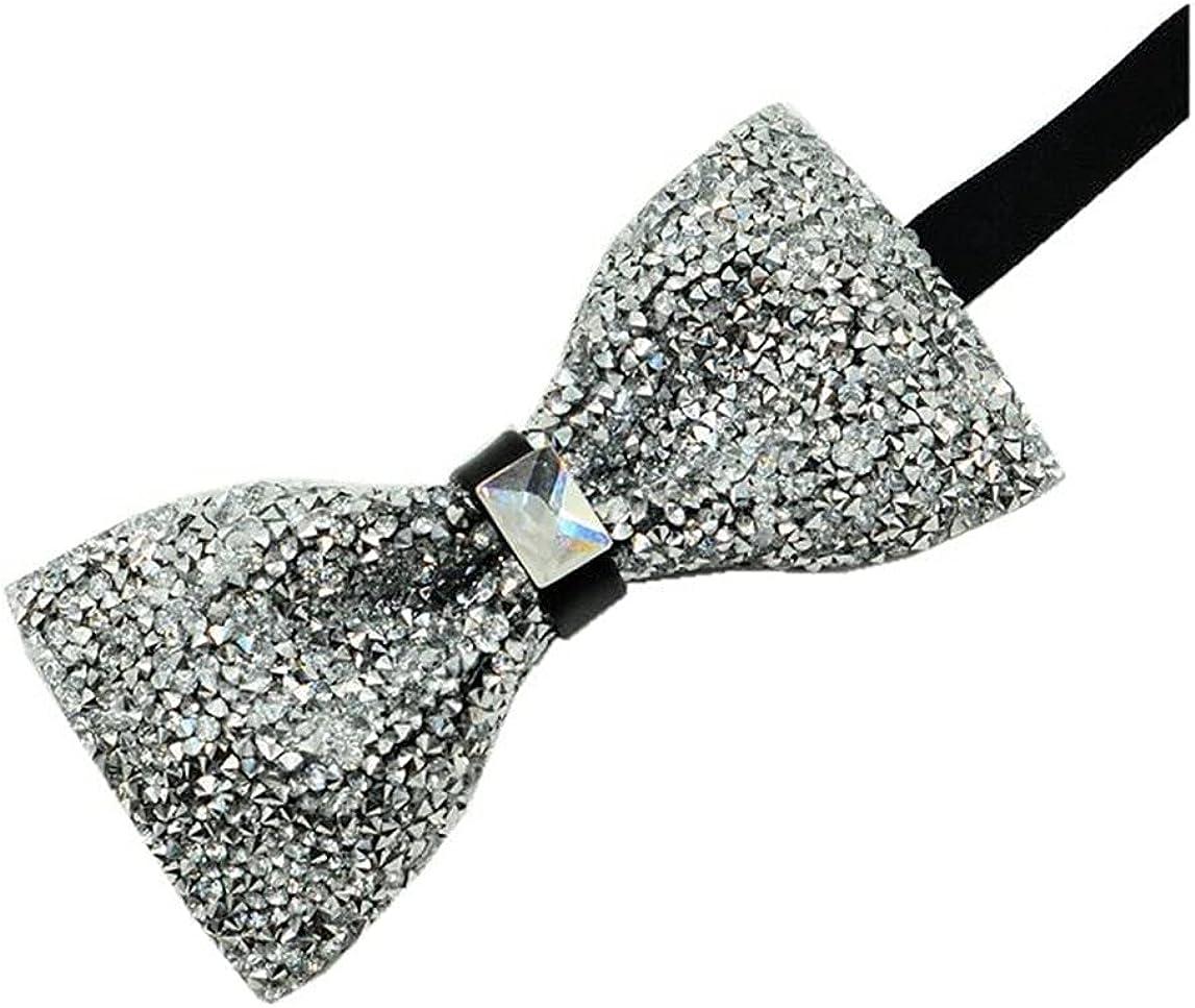 Hello Tie Men's Pre-tied Rhinestones Shining Bowtie Luxury Bow Ties-Multicolor
