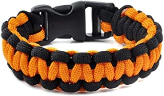 Brosco Camping Emergency Paracord Military Survival Bracelet Parachute Cord Buckle Good Bangle Popular Stylish Charms Accesories | ColorID - Orange