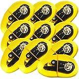 iapyx 4X Ratschenspanngurt Spanngurt mit Ratsche 5 Meter 800kg EN Norm 12195-2 Farbe: gelb