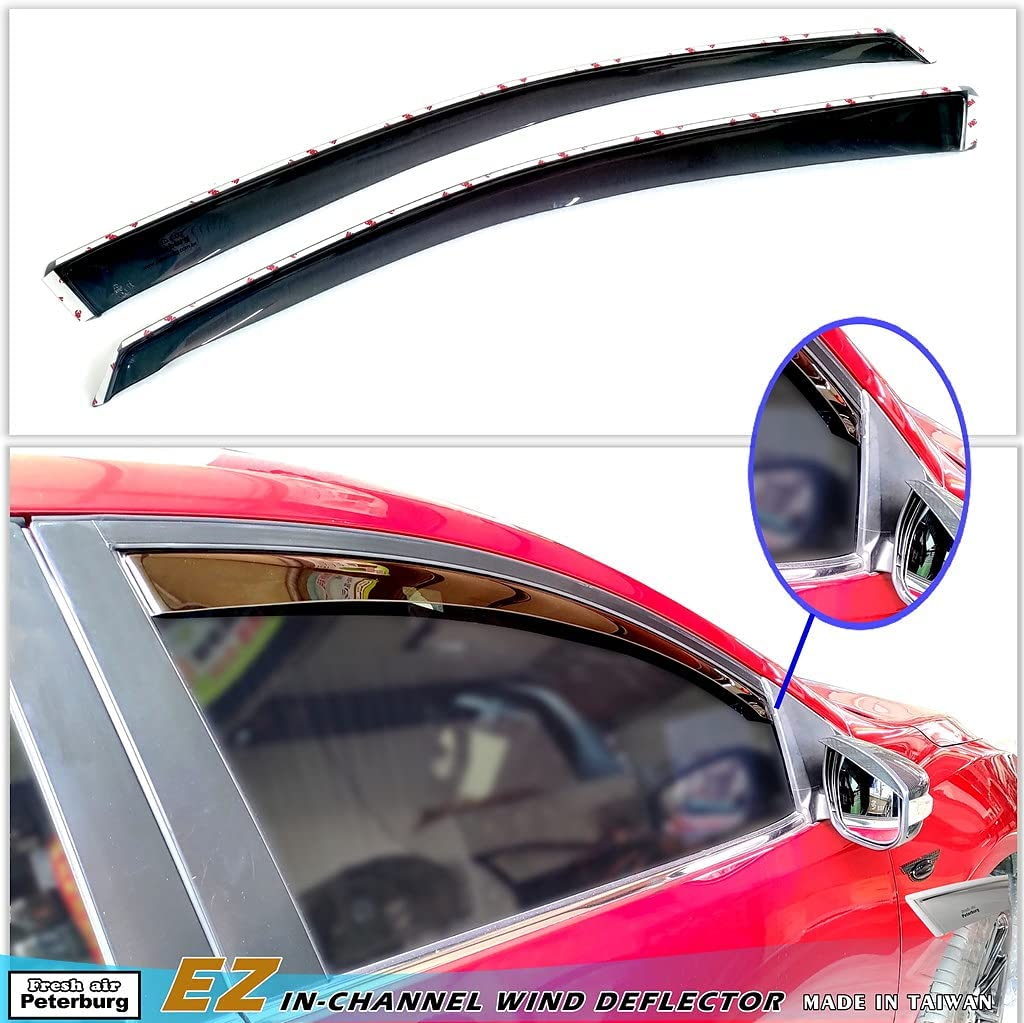 Fresh air Peterburg EZ Complete Free Shipping in-Channel for Peugeot Very popular Window Visors 1007