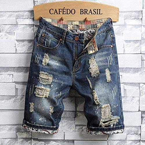 Fijnere zomerstijl herenjeans Korte broeken Heren slim Korte spijkerbroeken met rits Rechte korte broek Jeans voor heren blauw en zwart, 779,31