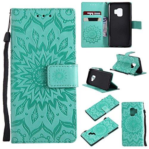 3 Layer Yobby Gro/ß Brieftasche H/ülle f/ür Samsung Galaxy S9 Plus mit Abnehmbar Handschlaufe und Stand-Blau Handyh/ülle Klassisch Flip Leder Tasche Abdeckung 9 Karte Schl/üssel