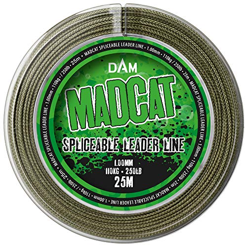 Madcat Cat Spliceable Leader 1 mm 110 kg – 25 m trenzado sedal para pesca de siluro, sedal para empalme, sedal para siluros