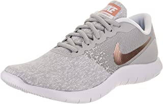 Nike Women Flex Contact Wolf Grey/Metallic Rose Gold 7.5 B M Fabric Running Shoe