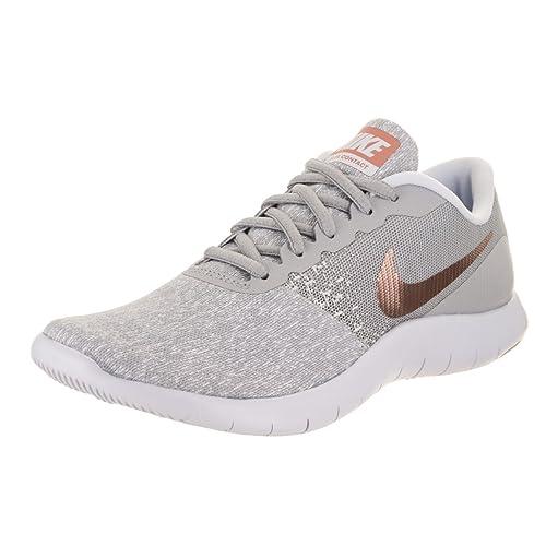 34445e3f403 Nike Women s Flex Contact Running Shoe Wolf Grey Metallic Rose Gold (7 B(