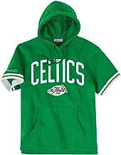 Mitchell & Ness Boston Celtics NBA Men's Drills Short Sleeve Hooded Sweatshirt