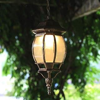 WYlucky في الهواء الطلق فانوس الزجاج E27 ماء معلقة ضوء ريترو حديقة فناء جناح شرفة شرفة ديكور ماء مصباح تعليق