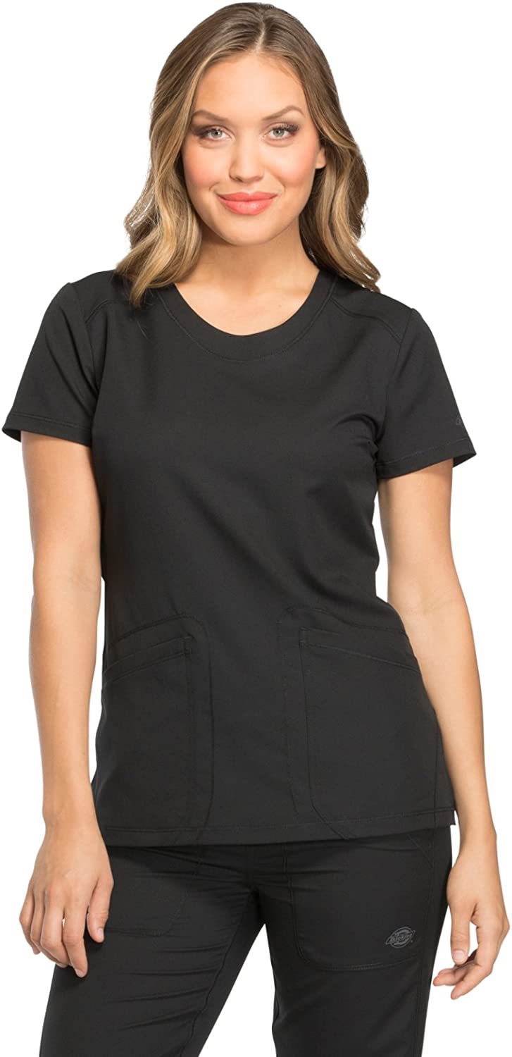 Dickies Dynamix Women's DK720 Rounded VNeck Top Medical bluee ice