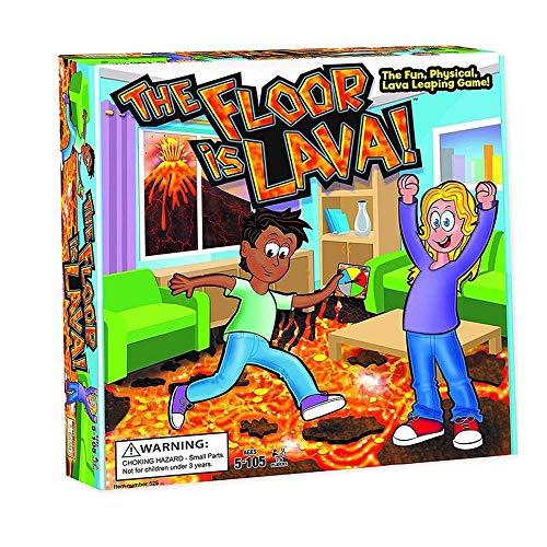 L&U Der Boden ist Lava! Interaktives Brettspiel Farbige Schaumstoffkarten für Kinder und Erwachsene (ab 5 Jahren) Fun Party, Geburtstag und Familienspiel   Fördert körperliche Aktivität
