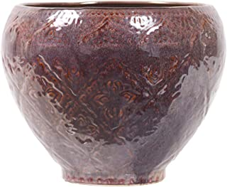 Little Green House Ceramic Brown Round Vase - Large
