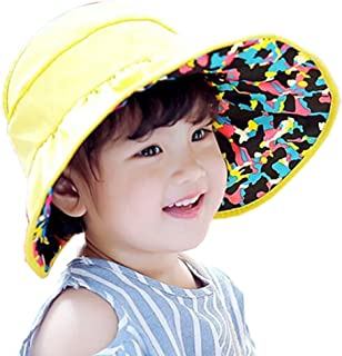 153cc2fe241 Kid Summer Revesible Visor Hat UV Sun Protected Adjustable Beach Cap for Boys  Girls