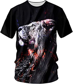 pinata Novelty Lion Mens Shirts 3D Printed Plus Size Graphic t-Shirts for Men