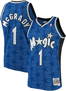 Forever Collectibles Mens #1 Tracy McGrady Orlando Magic 2001-02 Hardwood Swingman Throwback Jersey Mens - Blue