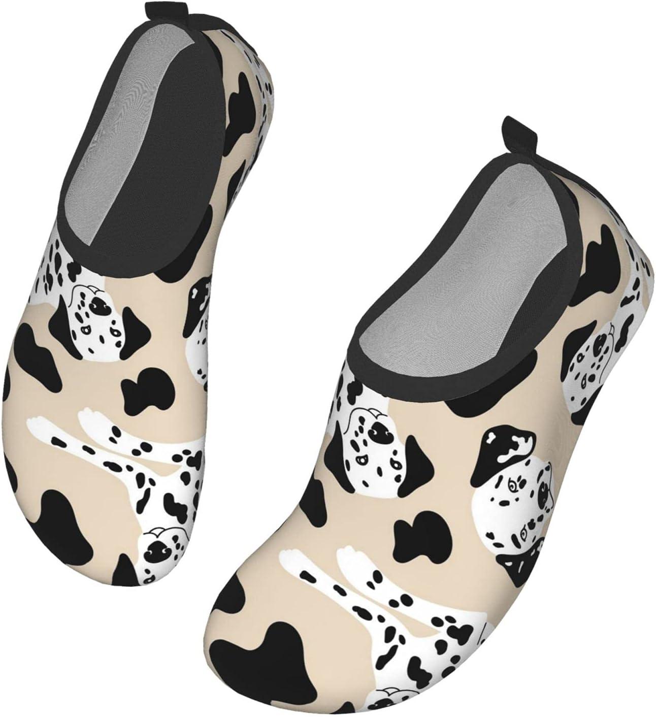 NA Cute Dalmatian Pattern Men's Women's Water Shoes Barefoot Quick Dry Slip-On Aqua Socks for Yoga Beach Sports Swim Surf
