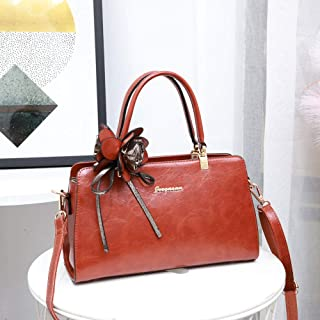 Tote Bag-Fashionable PU Handbag, Shoulder Bag, Crossbody Bag, 33 * 12 * 12cm Worth having (Color : Orange)