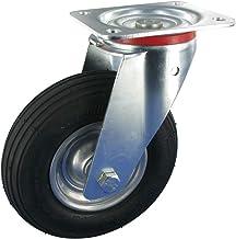 Zwenkwiel zonder rem wiel 200 mm luchtbanden rollenlager draagvermogen: 75 kg