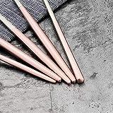 Tingting1992 Cuchara Acero Inoxidable Coreano Rosa Palillos Cuchara Conjunto Postre cucharas Largos Mango Chino Chop Sticks Juegos vajilla Cubiertos para Servir (Color : Pinksilver 1set)