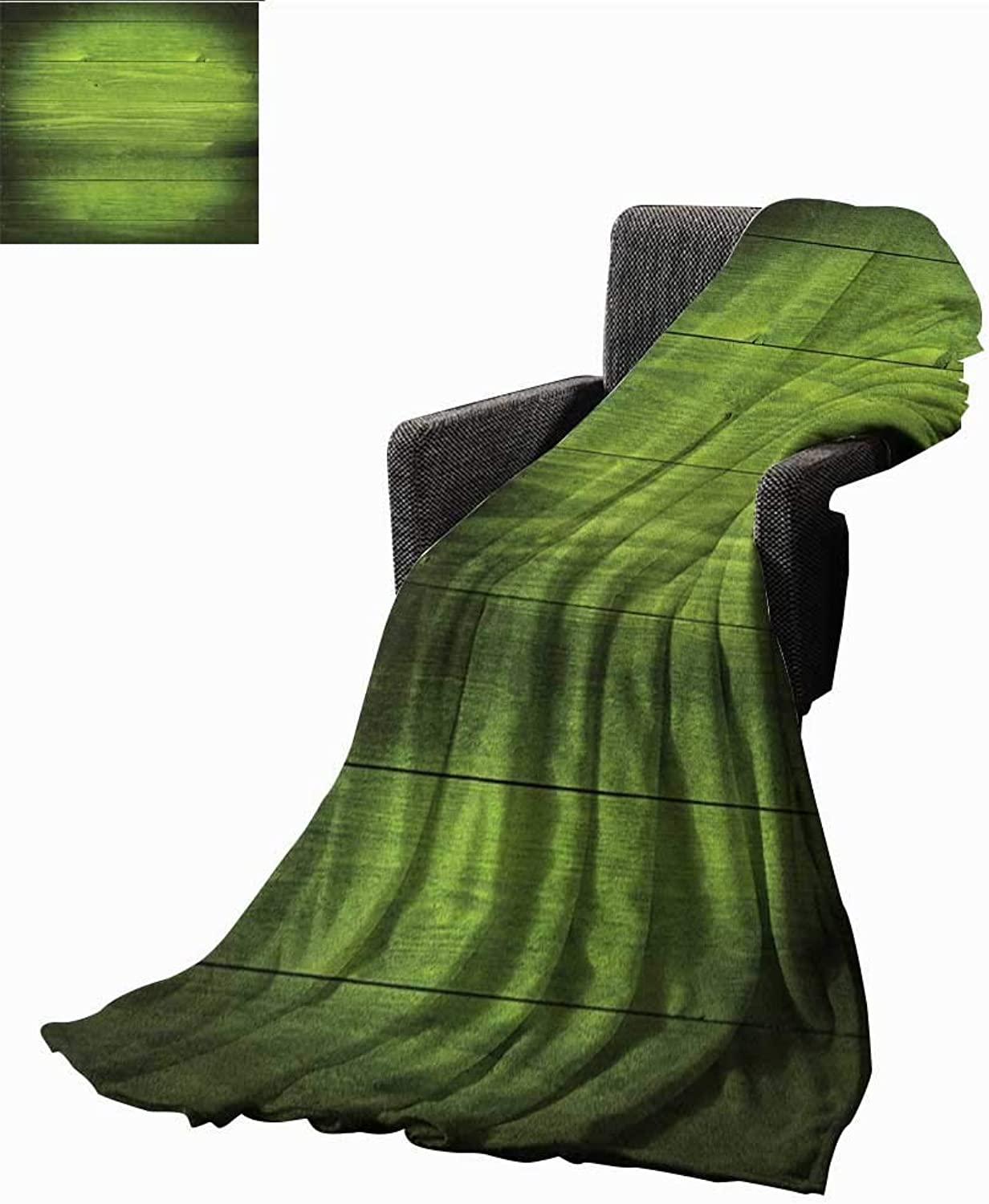 Bybyhome Bed or Couch 60  x 35 Forest Green Lightweight Blanket Horizontal Wooden Planks Rough Oak Timber Structure Surface Texture Image Lightweight All-Season Blanket Green Black