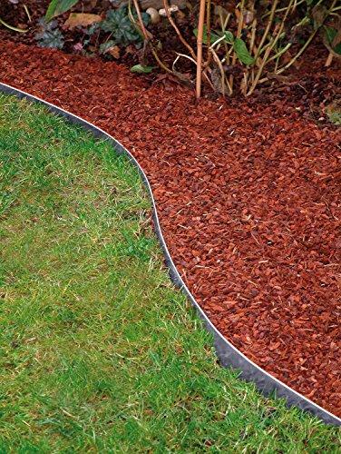 Bellissa Bordure galvanisé 118 cm Bordure de limitation de pelouse de jardin monde Verrou Berger 5 Stk. (20 cm hoch)