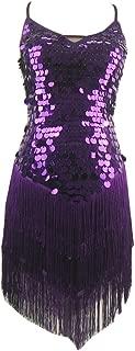 Whitewed Backless Fringe Sequin Salsa Latin Skating Ballroom Dance Dress Styles