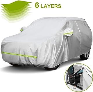 doble capa sint/ética y de finas trazas de algod/ón por el interior Funda exterior premium para Peugeot 308 SW impermeable transpirable para evitar la condensaci/ón en el parabrisas.