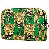 Colorido bolsa de maquillaje de guepardo neceser bolsa de cosméticos organizador de viaje