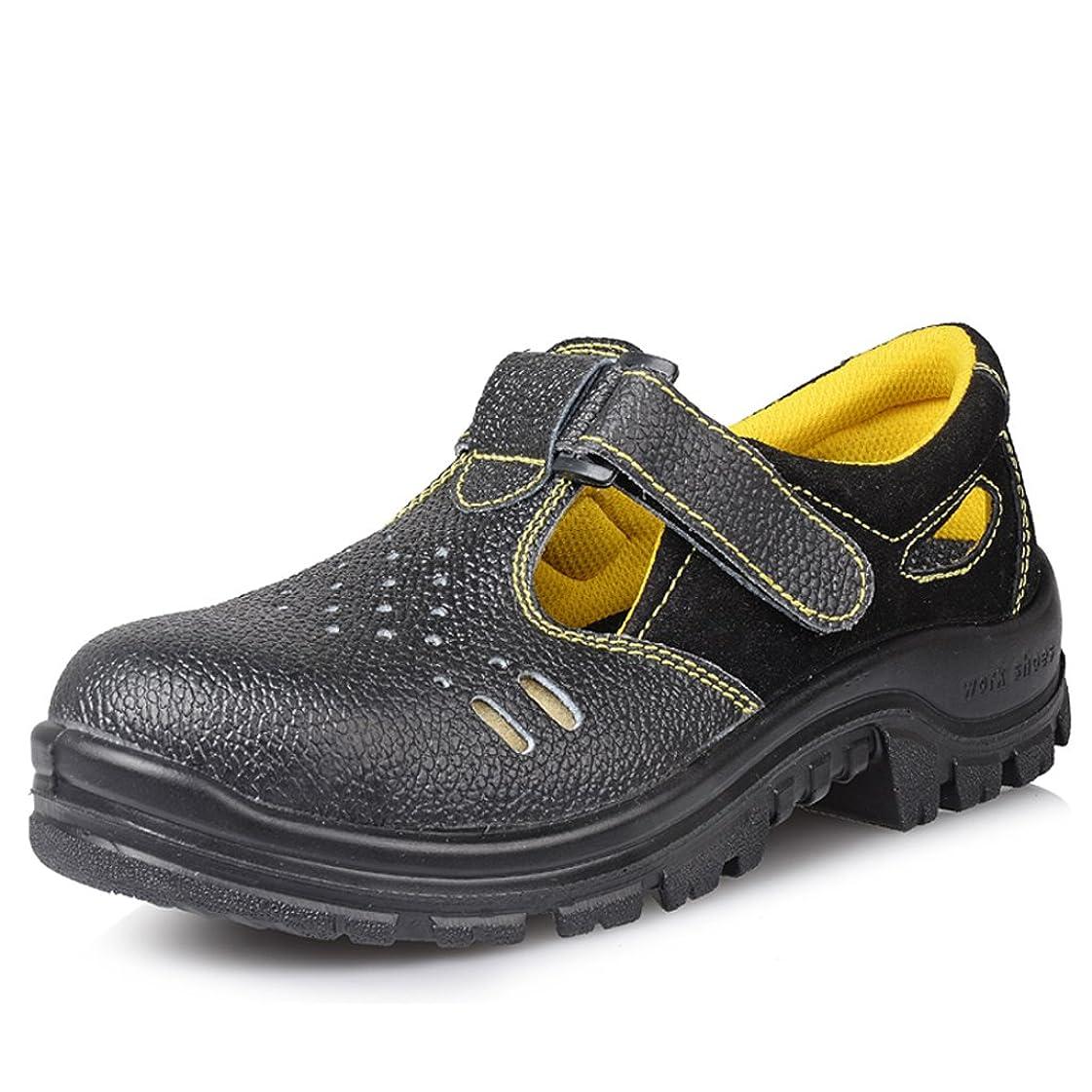ポンド裁量歯科の安全靴 短靴 サンダル 本革 通気 作業靴