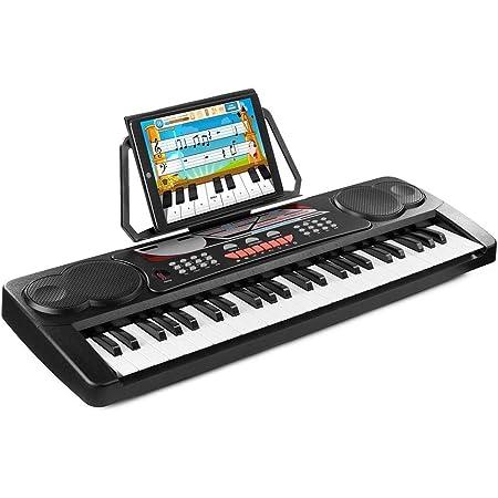 Max Teclado electrónico KB8 Piano digital de 49 teclas con ...