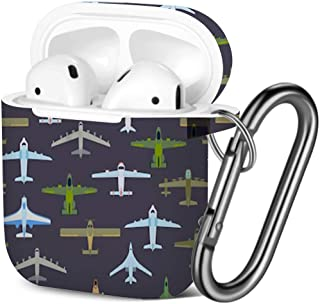 Shockproof Soft TPU Gel Case Cover with Keychain Carabiner for Apple AirPods Compatible with AirPods 2 and 1 Bee Honey
