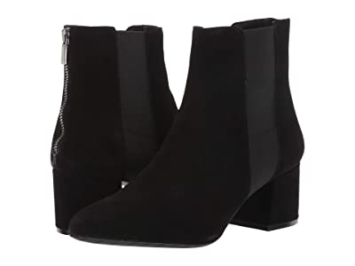 Kenneth Cole Reaction Kick Block Bootie (Black Suede) Women