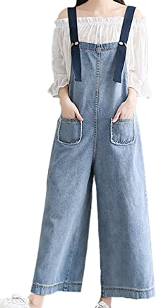 93a48ca1e3486 Women Jeans Spring Autumn Casual Plus Size Wide Leg Denim Overalls