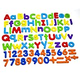 MAGTiMES Magnetic Letters and Numbers for Educating Kids in Fun -Educational Alphabet Refrigerator Magnets...