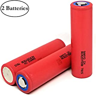 2 Pack of Original, NCR20700B, 4250mAh, 10Amp, Flat Top, 3.7V, Rechargeable, 20700-Battery, Replacement for Sanyo-Batteries, for Electric Bikes, Electric Tools, Toys, LED Flashlights, Torch