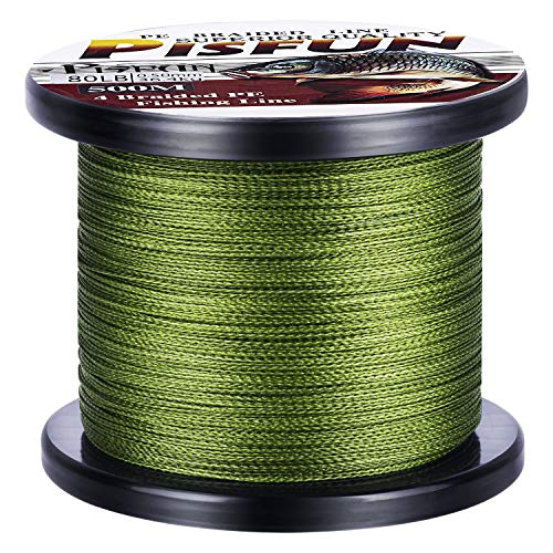 Pisfun Super Strong Braided Fishing Line 4 Strands Fishing Line...