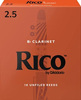 Rico 2.5 Strength Reeds for Bb Clarinet (Pack of 10)